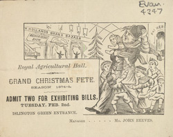 Advert for the Royal Agricultural Hall